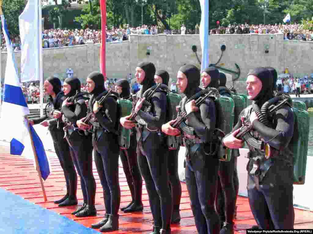 Російські військові аквалангісти