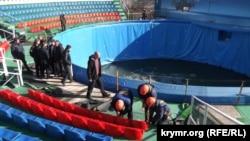 Демонтаж ялтинского дельфинария
