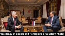Dragan Čović i Milorad Dodik, Banja Luka, 9. oktobar 2017.
