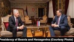 Dragan Čović, predsjednik HDZ BiH i Milorad Dodik, član Predsjedništva BiH
