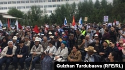 Митинг сторонников Алмазбека Атамбаева. Бишкек, 3 июля 2019 года.