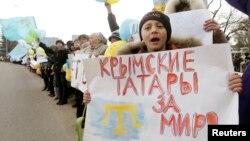 Антивоєнний протест у Криму, 10 березня 2014 року
