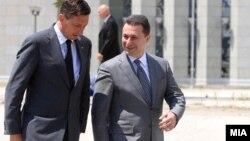 Премиерот Никола Груевски и словенечкиот претседател Борут Пахор.