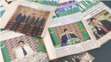 TURKMENISTAN -- Shot of Turkmenistan newspapers with president's photo on cover