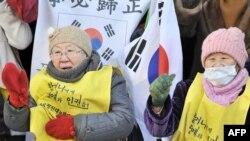 Cənubi Koreya - seks köləsi olduğunu iddia edən qadınlardan. 2010