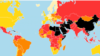 """Карта свободы прессы организации """"Репортеры без границ""""."""