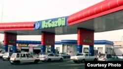 Uzbekistan -- UzGazOil gasoline station, undated