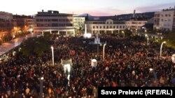 Peti protesti u Podgorici, ilustrativna fotografija