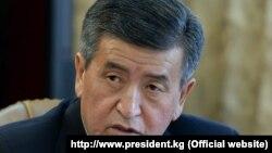 Президент Кыргызстана Сооронбай Жээнбеков.