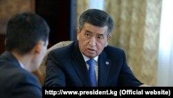 Сооронбай Жээнбеков принял Алмазбека Курманалиева. 9 декабря