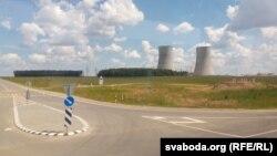 Беларуская атамная электрастанцыя каля Астраўца