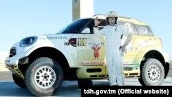Президент Туркменистана Гурбангулы Бердымухамедов участник авторалли «Амуль-Хазар»