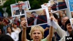 La un protest la Sofia