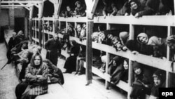 В'язкі концтабору «Аушвіц-Біркенау», який діяв у польському місті Освенцім, окупованому нацистами