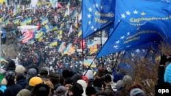 Флаги ЕС на Майдане
