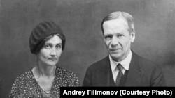 Наталья и Густав Шпет, Енисейск, 1935 год