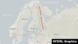 Маршрут перемещения мигрантов к российско-норвежской границе минувшей осенью