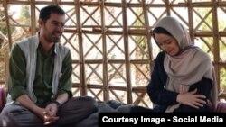 شهاب حسینی و نازنین بیانی در فیلم «طعم شیرین خیال»