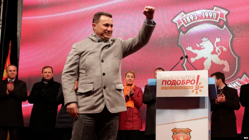 Central to the contest is former Prime Minister Nikola Gruevski's bid to regain the top post less than a year after he stepped down in the wake of major antigovernment protests.
