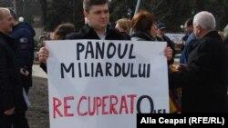 "La un protest al Platformei ""DA"""