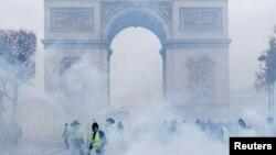 Parisdə etirazlar, 1 dekabr, 2018-ci il