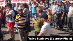 Канск, митинг против полуподпольных лесопилок, 13 июня
