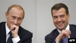 Уладзімер Пуцін і Дзьмітры Мядзьведзеў, архіўнае фота.