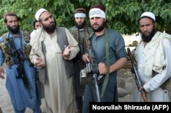 Afghan Taliban militants in Jalalabad in June. A recent U.S. military report said Taliban control over Afghanistan has increased in recent months.
