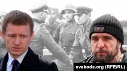 Аляксей Янукевіч (зьлева) і Аляксандар Залдастанаў