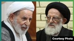 Ayatollah Mohammad Yazdi (L) and Grand Ayatollah Shobeiri-Zanjani (R).