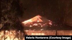Valeria Hontareva-nın evi yanır