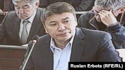 Обвиняемый в хищениях бывший глава национальной компании «Астана ЭКСПО-2017» Талгат Ермегияев в суде. Астана, 13 мая 2016 года.