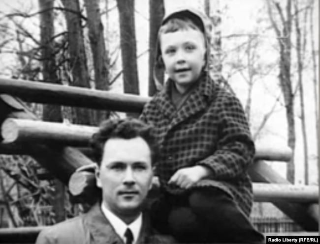 Валерий Саблин с сыном