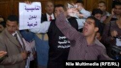محتجون مصريون ضد الجمعية التأسيسية لوضع الدستور المصري