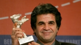 "Jafar Panahi poses with his ""Jury Grand Prix"" silver bear for his movie ""Offside"" at the 56th Berlinale Film Festival in Berlin in 2006. Panahi is now banned from making films in Iran."