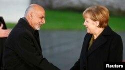 Әфганстан президенты Әшрәф Гани һәм Германия канцлеры Ангела Меркель Берлинда. 2014 ел