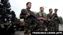 Иностранные наёмники, воюющие на стороне группировки «ДНР». Донецк, август 2014 года