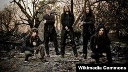 Рок-гурт Korn (фота Sébastien Paquet).