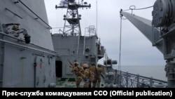 Тренировка морских спецназовцев