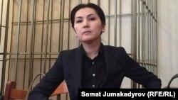 Аида Салянова на одном из заседаний суда.