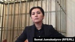 Аида Салянова буга чейинки соттук териштирүүлөрдүн биринде. Архивдик сүрөт.