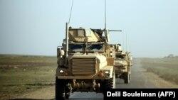 کاروان موترهای نظامیان امریکایی در سوریه