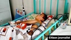 11-летний Б.Х., избитый своим учителем, до сих пор остается в состоянии комы.