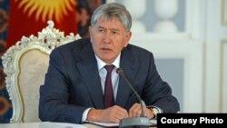 Kyrgyz President Almazbek Atambaev (file photo)