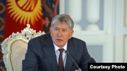 Kyrgyz President Almazbek Atambayev (file photo)