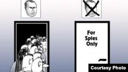 Karikaturë mbi propaganden e Putinit dhe OJQ-të