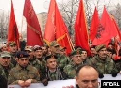 Pamje nga protesta e 30 dhjetorit 2011 në Prishtinë...