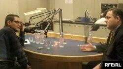 Министр Барамидзе (справа) рассказал Радио Свобода о достижениях администрации Михаила Саакашвили