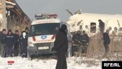 Спасательная операция на месте крушения самолета Bek Air. 27 декабря 2019 года.