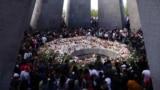 The eternal flame inside the Armenian Genocide Memorial in Yerevan (file photo)